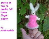 THIS ITEM IS RESERVED TO LETTYCUBE-needle felt bunny finger puppet-how to-photos