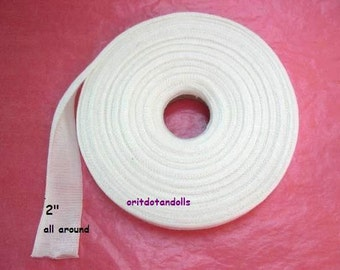 Doll's cotton tubing, 22 yards cotton gauze,  for crafting inner doll's head, suitable for Waldorf dolls-for small heads -made in Israel