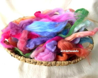 Merino wool hand dyed hand painted with eco colors more then 30 colors 2.6oz/75gram