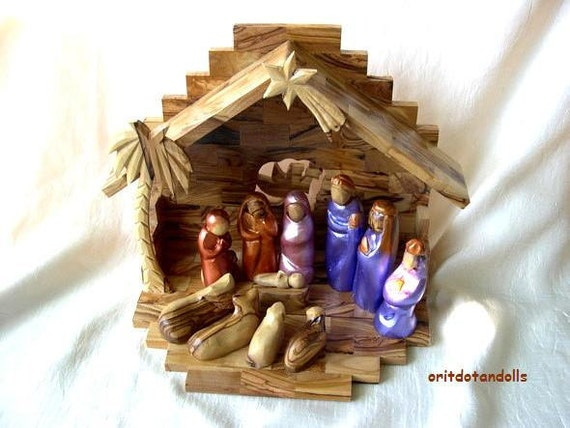 Nativity Set , Christmas creche handmade