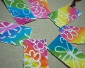 Watercolor Tags with Rainbow Ties