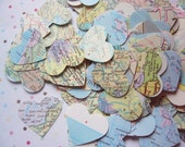 Vintage Wedding Atlas Heart Confetti
