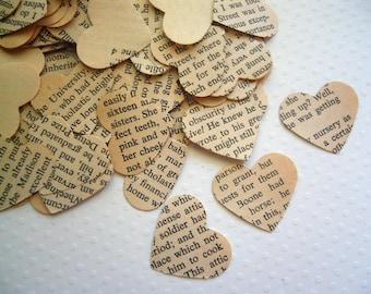 Vintage Wedding - Romance Novel Heart Confetti - Vintage Love