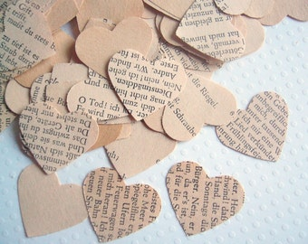 Vintage German Heart Wedding Confetti