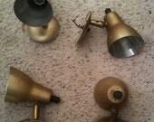 Vintage Modern bullet spot lamps. Brushed aluminum goodness