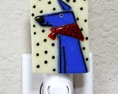 Fused Glass Dog Night Light