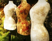 Wasp Waisted Mannequin in Laura Ashley Fabric English Country Garden - Flora