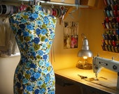 Retro Vintage Chrome Mannequin Dressform Display Form - Muriel