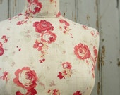Tailored Daisy Roses Linen Display Mannequin Dressform - Daisy in Cerise
