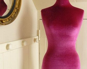 Slip On Luxury Velvet Mannequin Dressform COVER ONLY - Pink