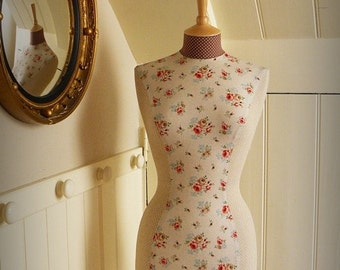 Floral Mannequin Vintage Inspired Hotchpotch Dressform Bust - Gracie