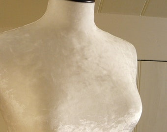 Luxury Crushed Velvet Mannequin Dressform COVER ONLY - Champagne