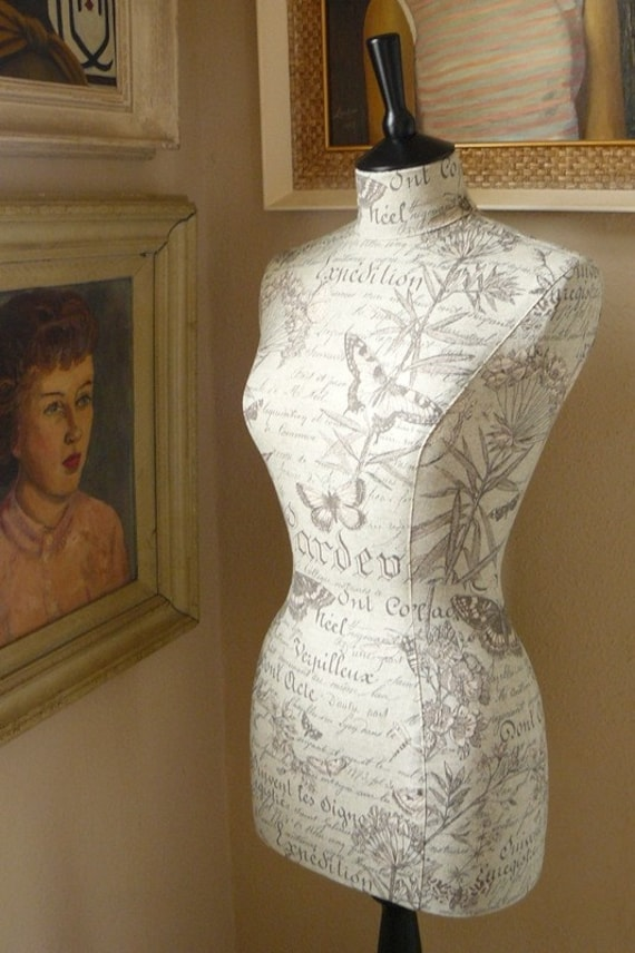 Home Decor Mannequin Botantical Garden of Butterflies Display Dressform