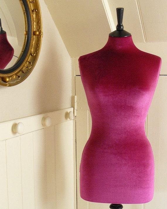 Slip On Luxury Velvet Mannequin Dressform by CorsetLacedMannequin