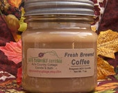 FRESH BREWED COFFEE SoY Candle - Highly Scented