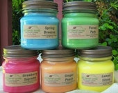 3 HOMESCENTING CANDLES - Strong - Vanilla, Cinnamon, Apple, Pumpkin, Fresh, Clean, Citrus, Floral, Spice, Fruit, Herbal