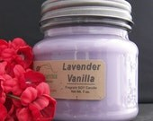 LAVENDER VANILLA SOY Candle - Highly Scented