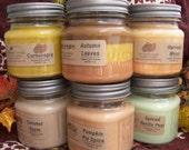 5 SOY CANDLES - You CHOOSE - Vanilla, Cinnamon, Apple, Pumpkin, Fresh, Clean, Citrus, Floral, Fruit, Spice, Herbal