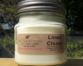 LINEN CLOSET SOY Candle - Highly Scented - Fresh and Clean