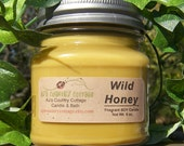 WILD HONEY SOY Candle - Highly Scented - True honey fragrance