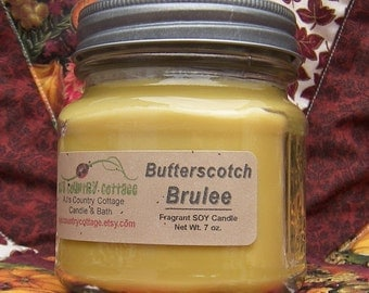 BUTTERSCOTCH BRULEE SOY Candle - Highly Scented