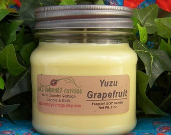 YUZU GRAPEFRUIT SOY Candle - Highly Scented