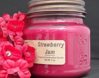STRAWBERRY JAM CANDLE - Highly Scented - Strong