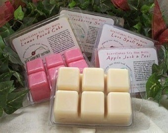 3 Packs SOY TARTS / MELTS - Highly Scented - Strong - Vanilla, Cinnamon, Fresh, Clean, Citrus, Floral, Fruit, Spice, Herbal