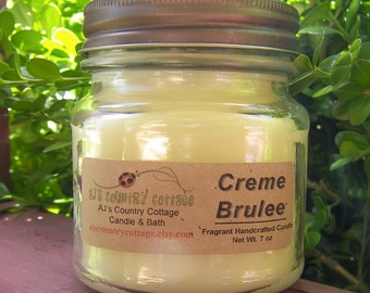 CREME BRULEE CANDLE - Strong - Caramelized Vanilla