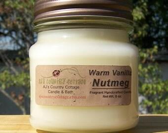 WARM VANILLA NUTMEG Candle - Strong