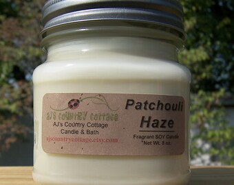 PATCHOULI HAZE SOY Candle - Highly Scented