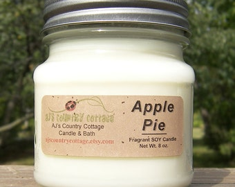 APPLE PIE Soy Candle - Scented Candles - Fall Decor - Autumn Decor - Fall Decorations - Autumn Decorations - Housewarming Gift