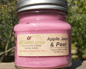 APPLE JACK and PEEL Soy Candle - Highly Scented