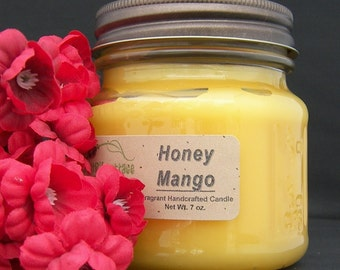 HONEY MANGO CANDLE - Strong - Coconut Fruit