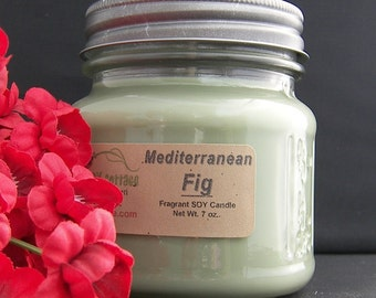 MEDITERRANEAN FIG SOY Candle - Highly Scented