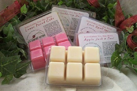 6 PACKS SOY TARTS / Melts / Scent Bricks - Highly Scented Strong Vanilla, Apple, Cinnamon, Fresh, Clean, Citrus, Floral, Fruit, Spice, Herbs