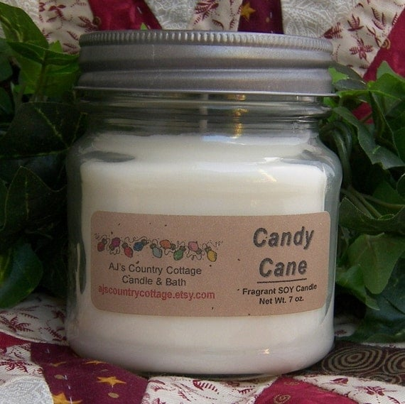 PEPPERMINT ICE SOY Candle Photo Courtesy of AJsCountryCottage