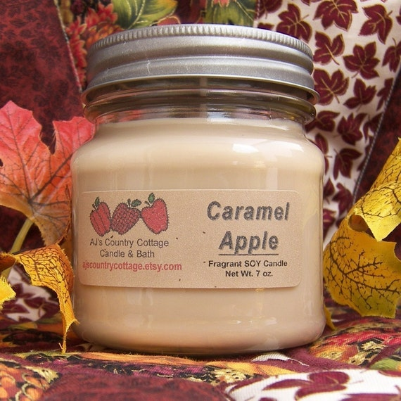 CARAMEL APPLE SOY Candle - Highly Scented