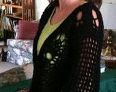 Sweater, Black,Cardigan, Crochet, Women's Clothing, Pineapple Design