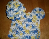 Bathroom, bath accessories, bathing, washcloth, scrubby, face scrubbies, beauty supplies, bathing accessories