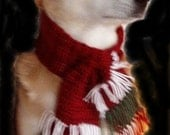 Extra Large Christmas Scarf for Your Dog  26  inch neck circumference and above