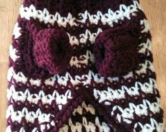 Dog sweater, dog sweaters, SMALL,Pet Clothing, Sweaters, pets, animals, sweaters, Burgundy White, crochet