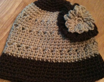Bucket Hat Chocolate and Beige Size 2-4