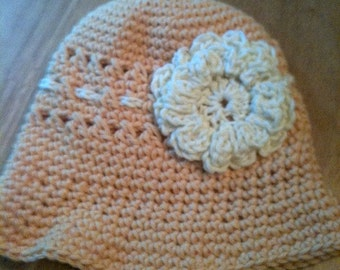 Peach Cotton Hat Sizes 2-4