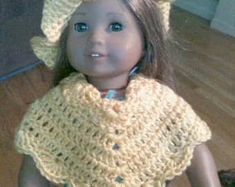Sunshine Poncho and Hat 16 inch Doll