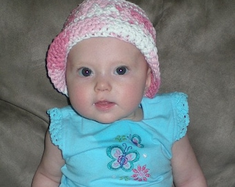 Hats, Baby Hats, Toddler Hats, Bucket Hats, Pink,White, Baby Clothes, Toddler Clothes