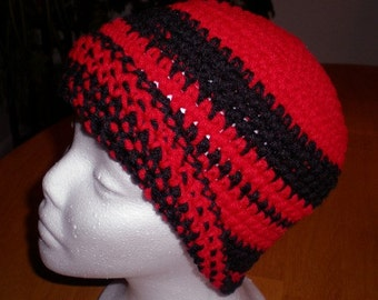 Hats, Caps, Beanies, Men's hats, Women's hats, Accessories,Red, Black, Crochet