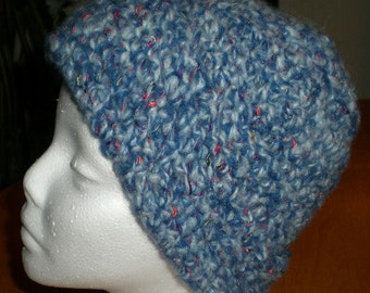Hat, Beanie, Unisex, Men, Women, Blue, Crochet