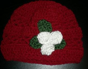 Girls Red Beanie Hat
