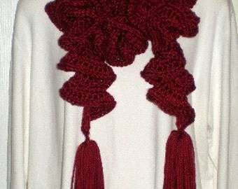 Scarf, Scarves, Spiral Scarf, Curling Scarf, Red, Women, Girls, Accessories